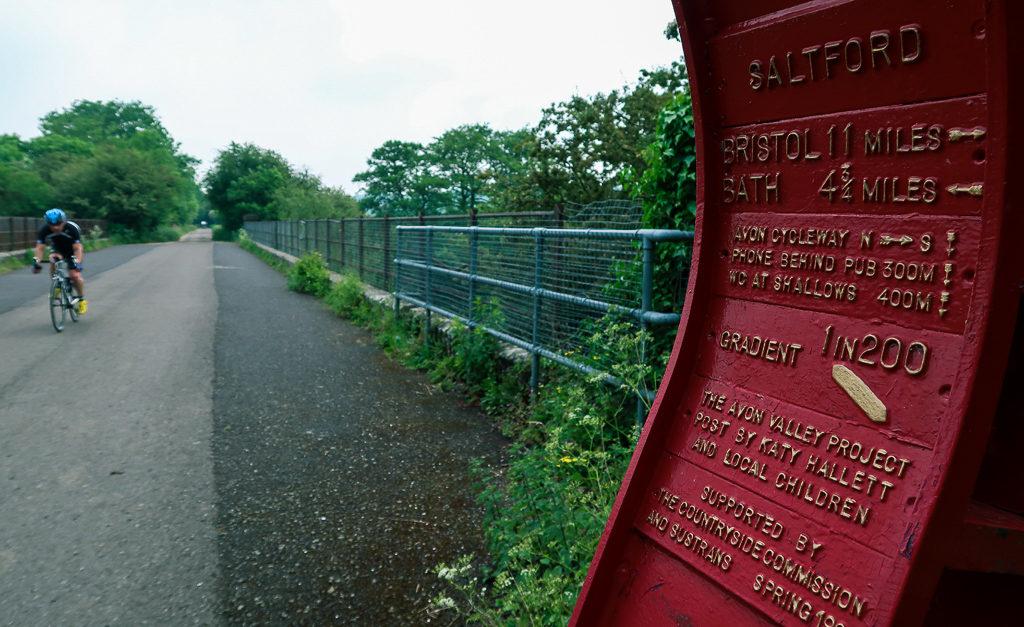 Bristol And Bath Railway Path full of cyclists