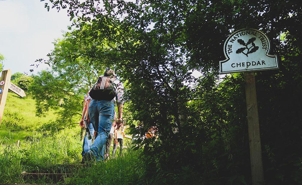 Hikking w Cheddar, Somerset.