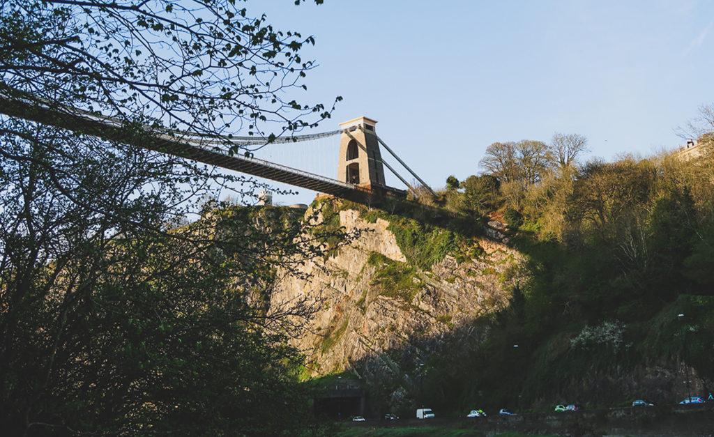 Widok na Wiszący Most Brunela w Bristolu