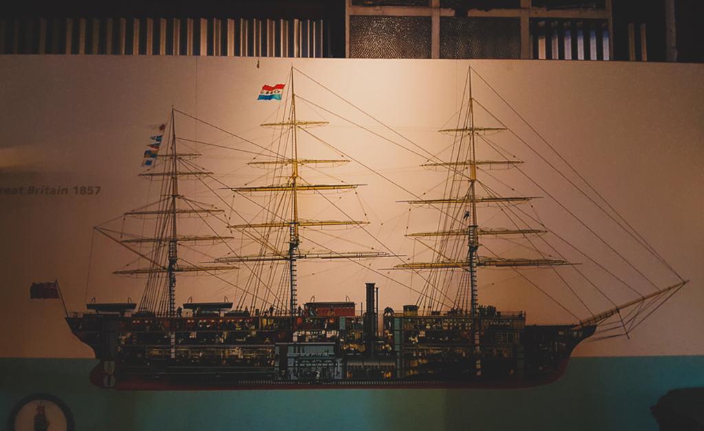 Przekrój okrętu SS Great Britain