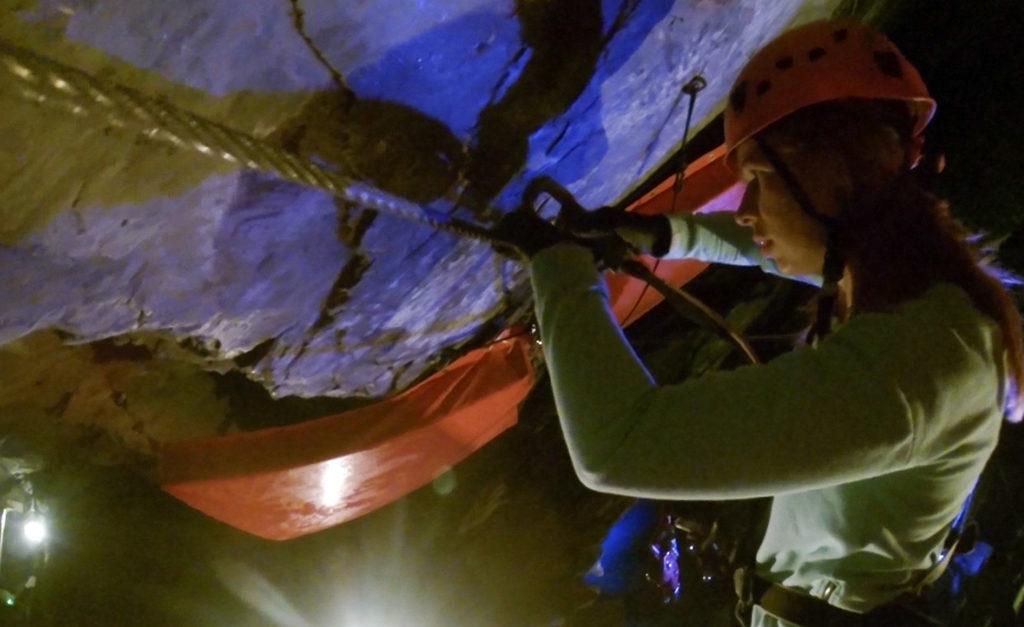Zip world Caverns liny i mocowania