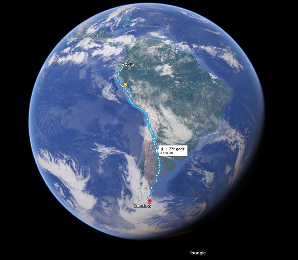 Bo Chcieć To Móc - trasa wyprawy do Ameryki Południowej