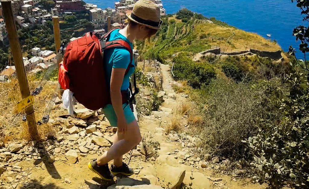 Zejście do Manaroli Cinque Terre