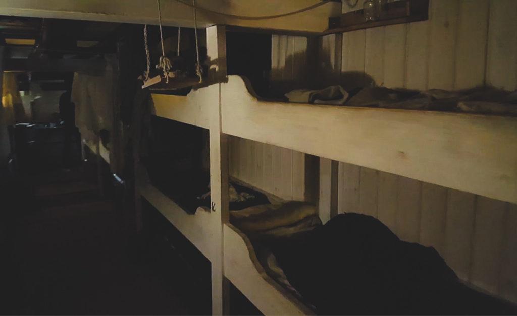 SS Great Britain w Bristolu i łóżka w środku