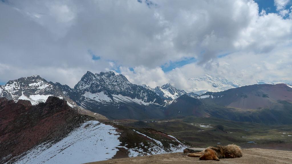 Widok z góry Winikunka w Peru, Cusco