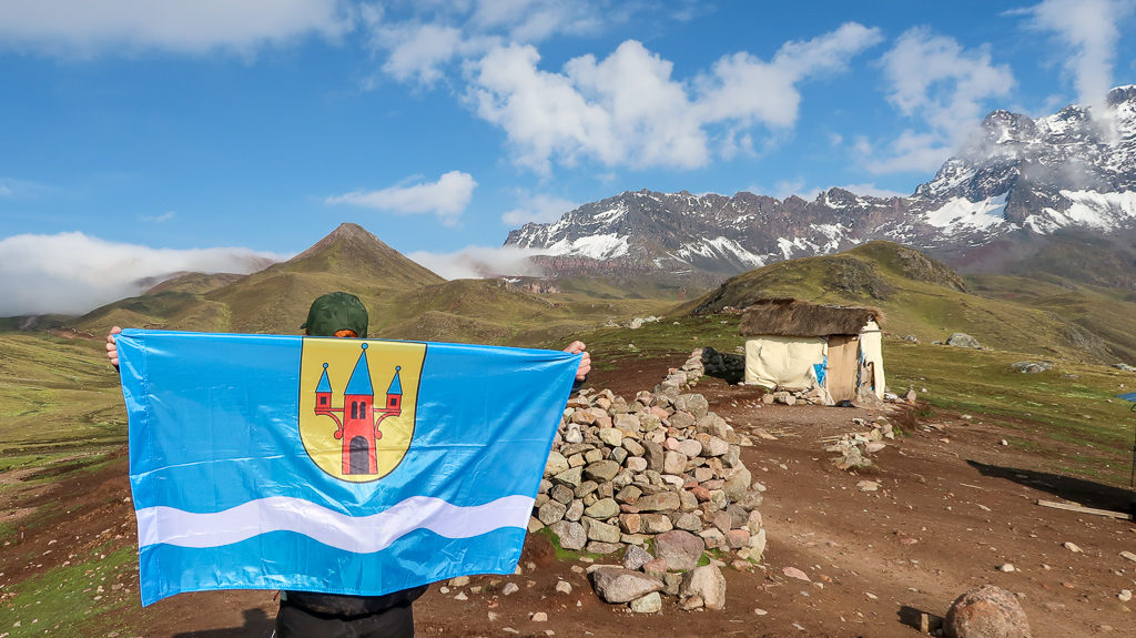 Nakło nad Notecią Flaga, Peru, Ameryka Południowa