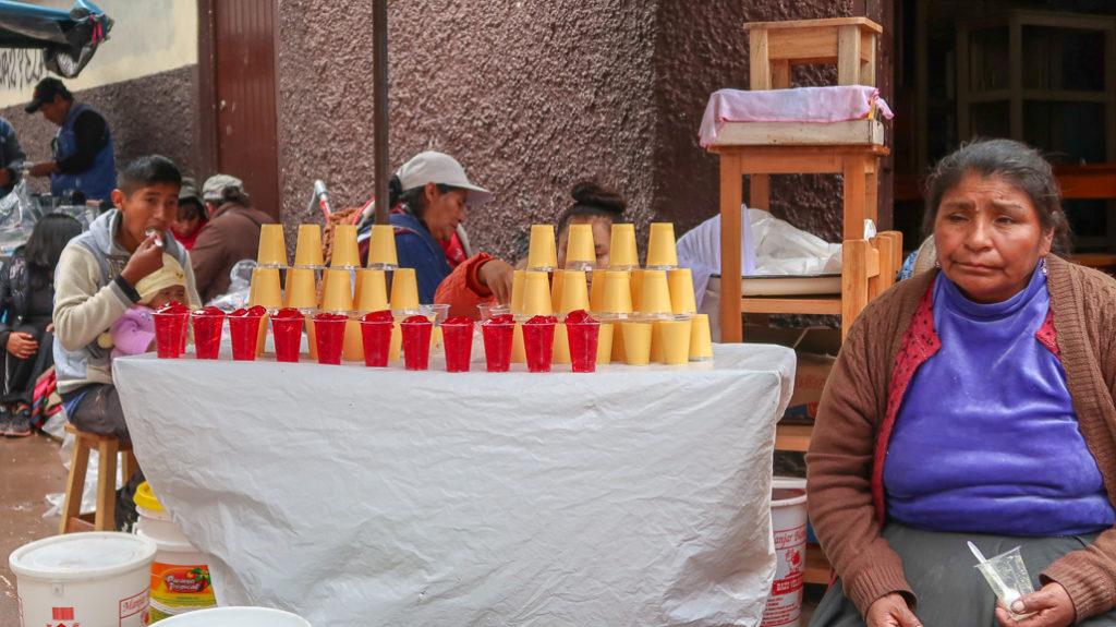 desery galaretki sprzedawane w Peru Cusco