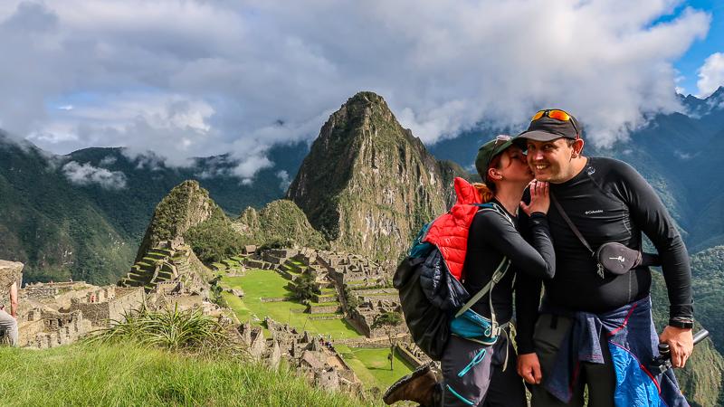 Widok na Zaginione Miasto Inków w Peru