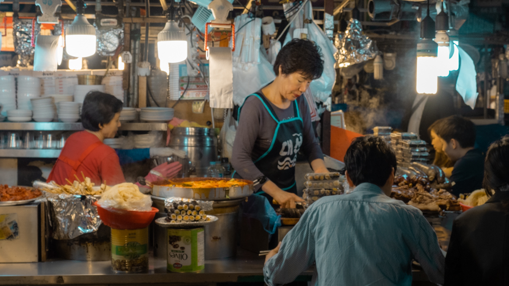 Garkuchnie i targi w Korei Południowej