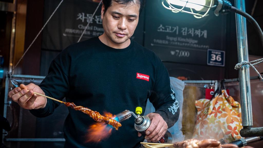 Jedzenie uliczne w Korei Południowej